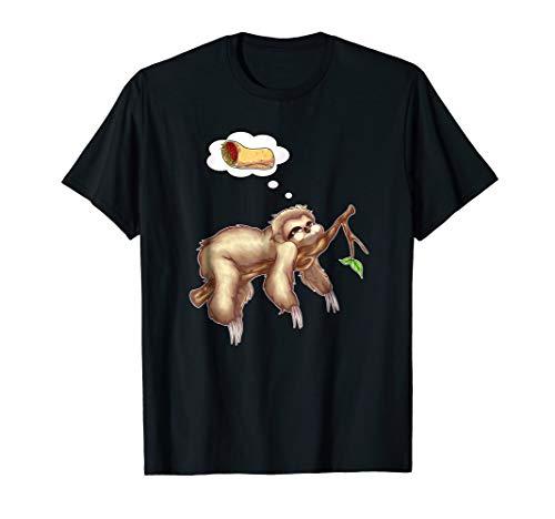 Sloth Burrito Funny Lazy Sleep Nap Mexican Matching T-shirt (Cap Mexico Womens T-shirt Sleeve)