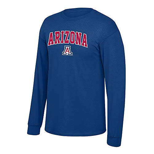 Elite Fan Shop NCAA Men's Arizona Wildcats Long Sleeve Shirt Team Color Arch Arizona Wildcats Navy X Large ()