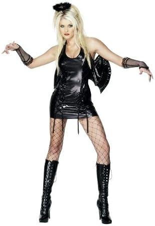 Desconocido Disfraz de ángel negro sexy para mujer: Amazon.es ...