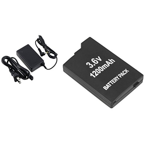 (Theo&Cleo 3.6v Battery Pack + AC Power Charger for PSP 2000 3000)