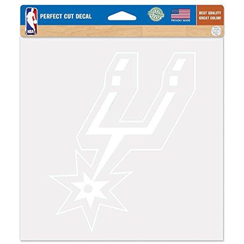 San Antonio Spurs Die-Cut Decal - 8''X8'' White (Spurs Antonio San Die)