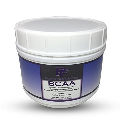 Physique Formula BCAA Powder-Artificial Sweetener Free Branched Chain Amino Acids Powder, Natural BCAAS with Glutamine & Stevia. Grape Flavor
