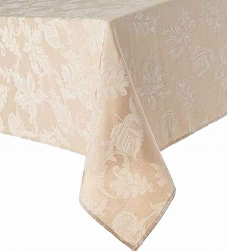 Khaki Leaf - The Big One Fabric Tablecloth Golden Khaki Leaf Table Cloth 60x84 Ob