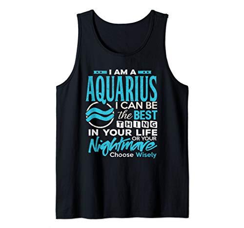 Aquarius Shirt I'm An Aquarius Zodiac Birthday Gift Tank Top ()