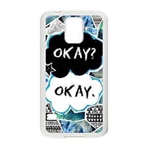 C-EUR Customized Print Okay Okay Hard Skin Case Compatible For Samsung Galaxy S5 I9600