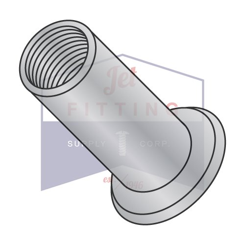 M6-1.0X5.00 Large Flange Blind Threaded Inserts (Rivet Nut)   METRIC   Aluminum Alloy #5056   Open End   NON-RIBBED   Cleaned and Polished (QUANTITY: 2000)