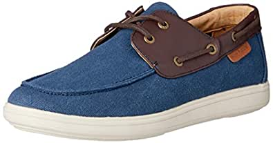 Hush Puppies Men's Scully Lace-Up Flats Navy 7 US