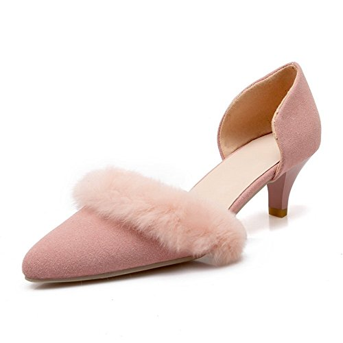 Adee Mujer Pantalones kitten-heels esmerilado bombas zapatos Rosa