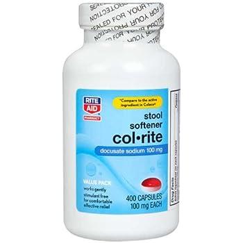 Amazon Com Rite Aid Col Rite Stool Softener 400 Ea
