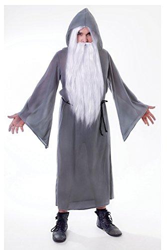 Druid Cloak Costume (Grey Men's Wizard Cloak Costume)