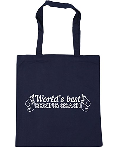 HippoWarehouse mejor boxeo entrenador Tote Compras Bolsa de playa del mundo 42cm x38cm, 10litros azul marino