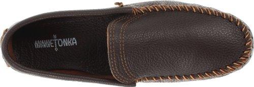 Minnetonka 969 - Zapatos cerrados de cuero para hombre Marrón (Dark Brown)