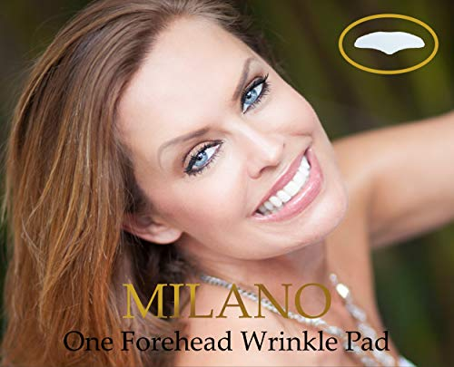 - New & Improved, Milano Beauty Silicone Forehead Wrinkle Pad, 100% German Quality, Removes Wrinkles, Instant Lift & Repair, Reusable Clear Gel Pads