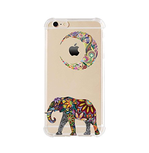 Price comparison product image iPhone 6/6s Plus Shock Absorption Case (5.5 inch screen), Moon Elephant Design