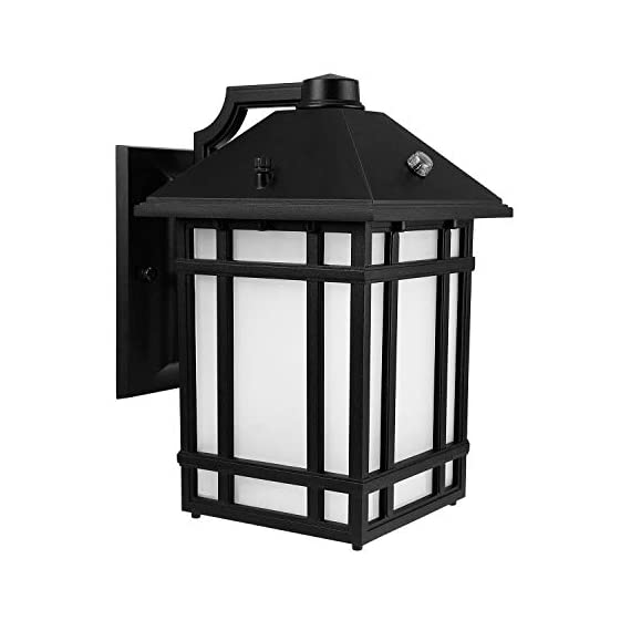 LEONLITE LED Outdoor Wall Lantern with Dusk to Dawn Photocell, 14W (60W Eqv.), Glass Lens, ENERGY STAR & ETL Listed Exterior Wall Mount Lighting Fixture, 3000K Warm White, 1000lm, 5 Years Warranty - DUSK-TO-DAWN: High-sensitivity photo sensor, auto-on at dusk and auto-off at dawn, efficient and continuous lighting during the whole night PREMIUM MATERIAL: Long-lasting usage with die-cast aluminum housing & frame strip, erosion and rusting resistance, ETL listed thus superior quality and safe operation guaranteed, available for wet locations OUTSTANDING PERFORMANCE: Integrated high-efficiency LEDs without bulb replacement, 50,000hrs lifespan reduces re-lamping frequency, fabulous and stable performance for the time to come - patio, outdoor-lights, outdoor-decor - 41TFHaQKxlL. SS570  -