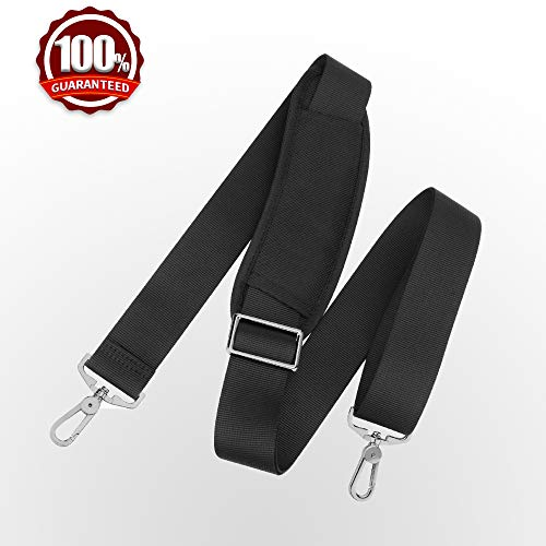 Shoulder Strap, SRC Adjustable Shoulder Bag Straps Replacement for Bags with Metal Swivel Hooks Gunmetal