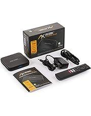 AX Mecool KM9 Pro Deluxe 4K UHD Android TV 10.0 TV IP Box, Google gecertificeerd, Prime Video 4K, YouTube 4K, Disney+ 4K, 5G WLAN, Bluetooth afstandsbediening, mediaspeler, Chromecast, 2 GB RAM en 16