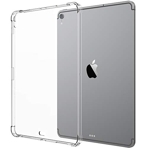 Luvvitt iPad Pro 11 Case Crystal View Flexible TPU Slim and Light Back Cover with Shockproof Cushion Corners for Apple iPad Pro 11 in 2018 - Clear (Wireless Pencil Charging - Newest Model)