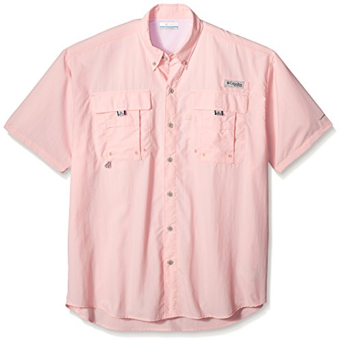 - Columbia Men's PFG Bahama II Short Sleeve Shirt, Cherry Blossom, X-Large