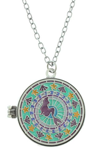Disney The Little Mermaid Stained Glass Locket Necklace (Disney Locket)