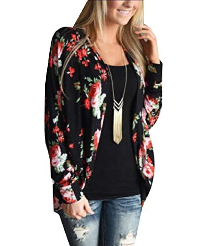 Slimming Plus Outwear Size Tops Sleeve XINHEO Black Long Autumn Women Cardigan 5FRxFXgw