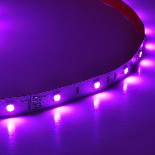 LEDwholesalers 24V 65-ft Color-Changing Flexible RGB LED Strip with 600xSMD5050, 20206RGB
