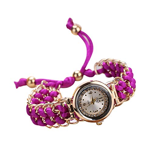 OUBAO Watches Sale Women Hand-Woven Rope Chain Winding