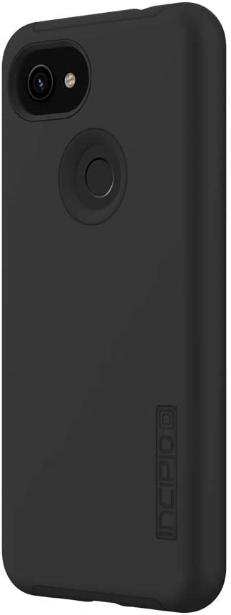 Incipio DualPro Case for Google Pixel 3a - Google Certified Protective Cover (Black) [Extremely Rugged I Shock Absorbing I Soft-Touch Coating I Hybrid] - GG-077-BLK