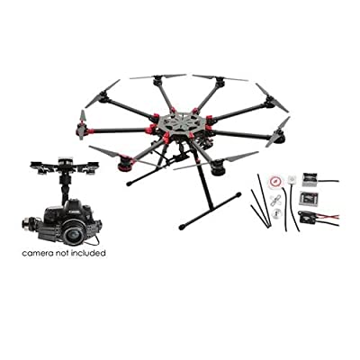 DJI Spreading Wings S1000+ Professional Octocopter with Zenmuse Z15-5D III (HD) 3-Axis Gimbal & WooKong-M Flight Control System, Transmitter Not Included