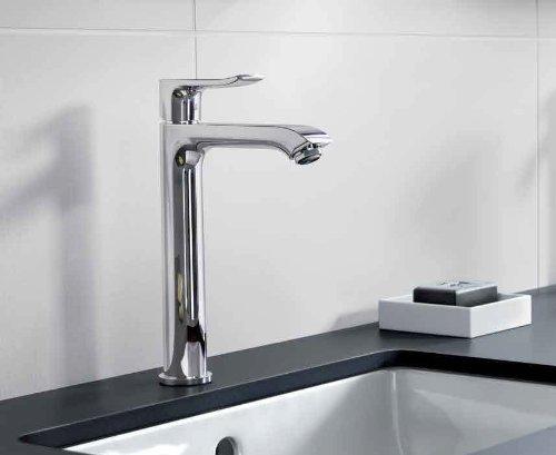 hansgrohe Metris S Modern 1-Handle 13-inch Tall Bathroom Sink Faucet in Chrome, 31020001