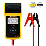 AUTOOL BT660 CCA 100-3000 12V/24V Battery Load Tester, Car Cranking and Charging System Analyzer Scan Tool with Printer for Heavy Duty Trucks, Cars, Motorcycles, Boats