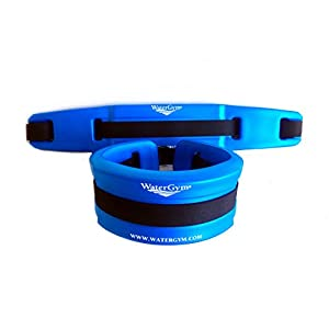 WaterGym Water Aerobics Float Belt for Aqua Jogging and Deep Water Exercise - Size SMALL-Blue