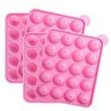 Tosnail 2 Pack of 20-Cavity Silicone Cake Pop Mold - Great for Hard Candy, Lollipop and Party Cupcake