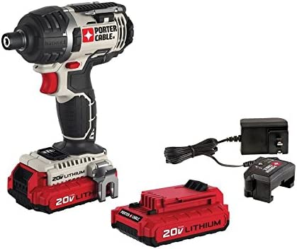 PORTER-CABLE 20V MAX Cordless Impact Driver Kit, 1 4-Inch, Tool Only PCCK640LB