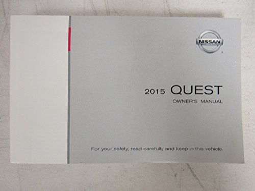 2015 Nissan Quest Owners Manual Guide Book