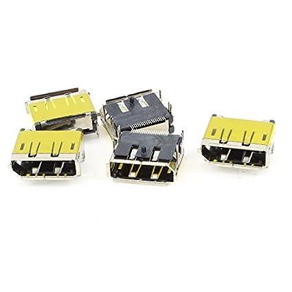 Amazon.com: eDealMax 5 x Mini HDMI hembra 19Pins SMT Dip conectores de montaje tono de Plata: Electronics