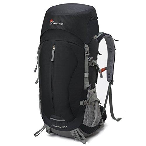 Mountaintop 50L Erwachsene Backpack Rucksack Trekkingrucksack mit einer Regenabdeckung