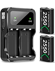 BEBONCOOL Xbox One Rechargeable Battery Pack 2x2550mAh Rechargeable Battery for Xbox One/Xbox One S/Xbox One X/Xbox One Elite Wireless Controller