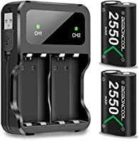 Controller Battery Pack for Xbox One, BEBONCOOL 2x2550 mAh Rechargeable Battery Pack for Xbox One/Xbox One S/Xbox One...