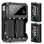 Battery-Pack-for-Xbox-One-ControllerXbox-Series-XS-BEBONCOOL-2550mAh-2-Pack-for-Xbox-One-Controller-Rechargeable-Batteries-and-Dual-Charger-for-Xbox-OneOne-XOne-EliteOne-S-Controllers
