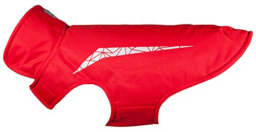 Red 22 Red 22 RC Pet Products Cascade Jacket Fleece Lined Water Resistant Dog Coat, Size 22, Red