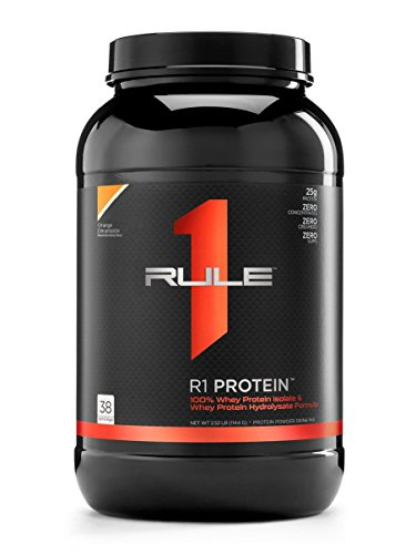 R1 Protein Whey Isolate/Hydrolysate, Rule 1 Proteins (38 Servings, Orange Dreamsicle)