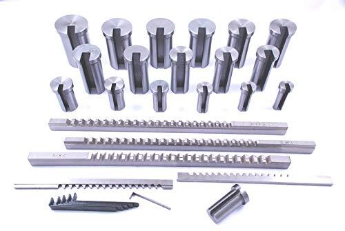 Broach Set - HHIP 2006-0056 30 Piece Keyway Broach Set, 1/8-3/16-1/4-5/16-3/8 Inch