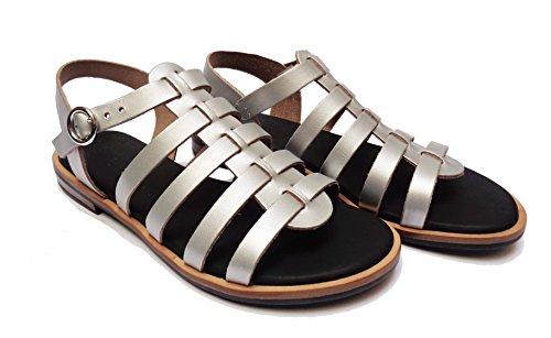 Donna in FRAU 85s8 sandali da pelle satinata col.num.