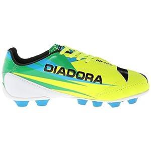 Diadora Soccer DD NA 2 R MD JR Soccer Cleat (Little Kid/Big Kid),Flourescent Yellow/Green/Black,6 M US Big Kid