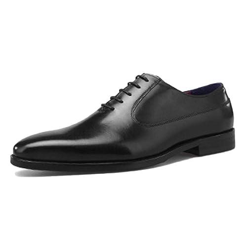 Zapatos Oxford para Hombre Confort Marrón Boda con Cordones ...