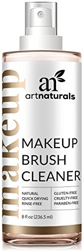 ArtNaturals Professional Makeup Brush Cleaner – (8 Fl Oz / 236ml) – Spray Removes Residue and Oils in a Quick Fashion for Smooth Application – Daily Essential Natural Solution for Powder and Cre