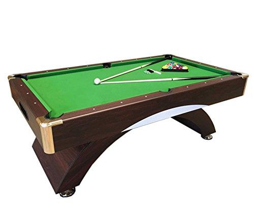 Tavolo da biliardo carambola misura 220 x 110 cm snooker verde 8 ft leonida 8 piedi - Tavolo da biliardo amazon ...