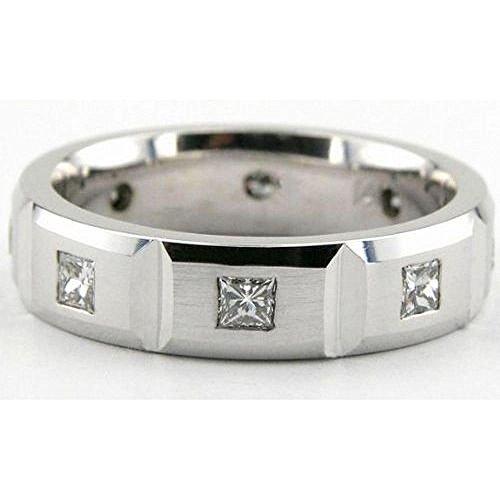 6 Mm Platinum Diamond (950 Platinum 6mm Diamond Wedding Bands Rings 1959 - Size 12)