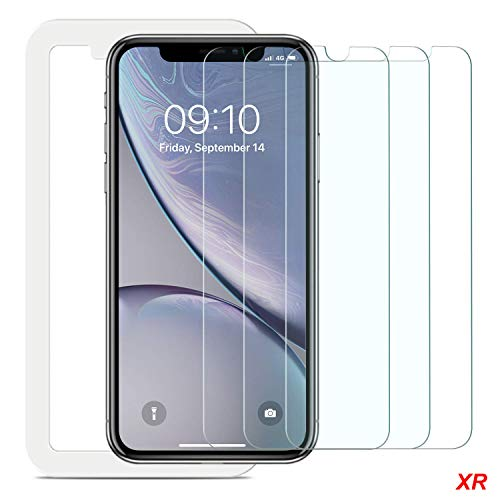 Screen Protector Compatible iPhone XR (6.1inch 2018 Release),0.33mm Tempered Glass, Compatible iPhone XR (6.1inch 2018 Release),Anti-Scratch,Advanced HD Clarity Work Most Case [3 Pack]